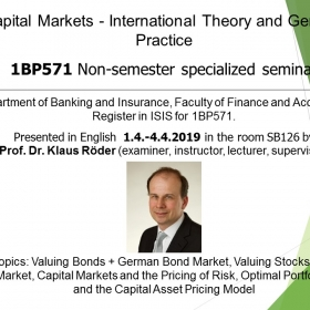 Non-semester specialized seminar: Capital Markets – International Theory and German Practice (1BP571)